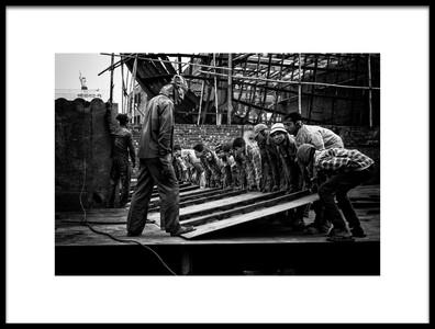 Art print titled Building a VesselIX Dhaka, Bangladesh by the artist Joxe Inazio Kuesta Garmendia