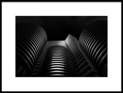 Art print titled Building and Three Things by the artist Matthias Hefner