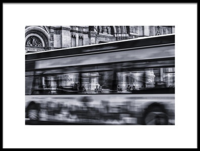 Art print titled Bus In Bologna by the artist Jean-Louis VIRETTI