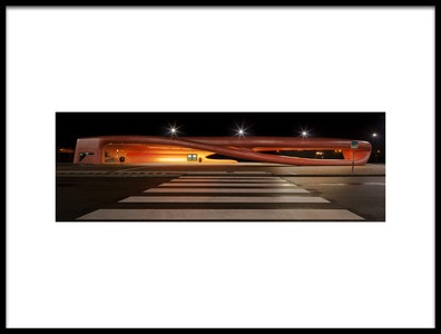 Art print titled Bus Stop by the artist Oliver Buchmann