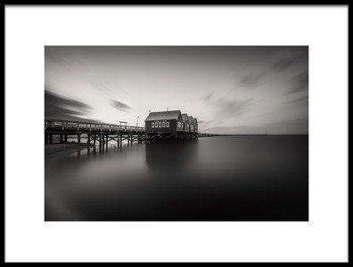 Art print titled Busselton Jetty Monochrome by the artist Despird Zhang