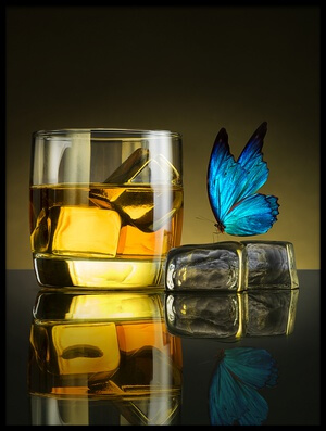 Buy this art print titled Butterfly Drink by the artist Jackson Carvalho