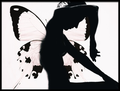 Art print titled Butterfly Woman by the artist Therese Blom