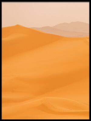 Art print titled Camels Caravan In Sahara II by the artist Dan Mirica