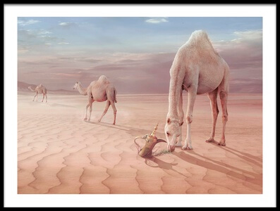 Art print titled Camels Trip by the artist sulaiman almawash