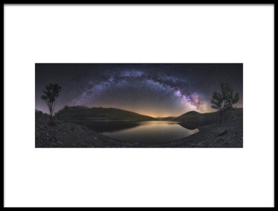 Art print titled Camporredondo Milky Way by the artist Carlos F. Turienzo