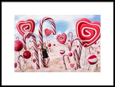 Art print titled Candyland by the artist Bettina Dittmann