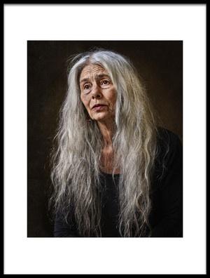 Art print titled Carla by the artist Claude Brazeau