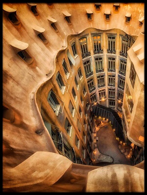 Buy this art print titled Casa Milà, La Pedrera, Barcelona by the artist Massimo Cuomo