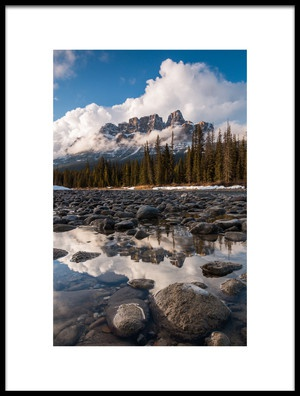 Buy this art print titled Castle Mountain by the artist Christoph Schaarschmidt