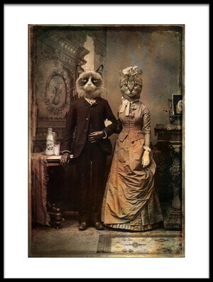 Art print titled Cat Couple by the artist DDiArte