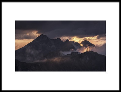 Art print titled Caucasus Mountains by the artist Dmitry Kupratsevich