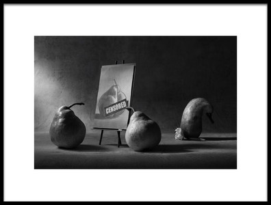 Art print titled Censored by the artist Victoria Ivanova