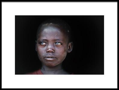 Art print titled Cerulean Eyes by the artist Trevor Cole