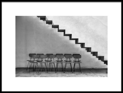 Buy this art print titled Chairs Tucked In by the artist Ugur Erkmen