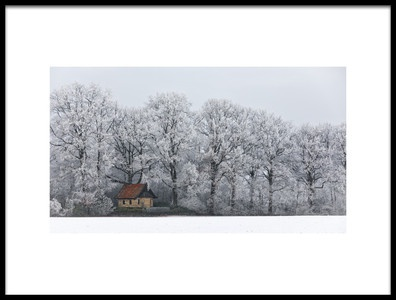 Art print titled Chapel and Rime by the artist Frank Wijn
