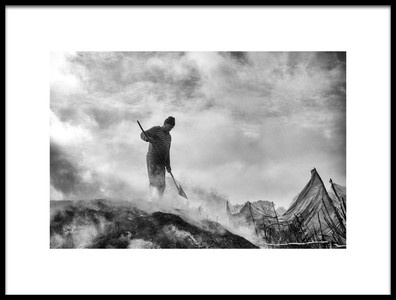 Art print titled Charcoal Worker by the artist YILDIRIM GENCOGLU