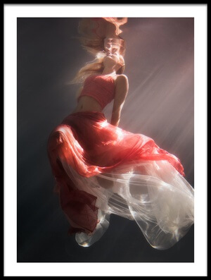 Buy this art print titled Chasing the Light by the artist Gabriela Slegrova