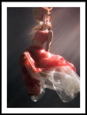 Art print titled Chasing the Light by the artist Gabriela Slegrova
