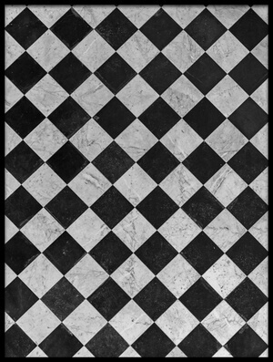 Art print titled Chessboard Floor by the artist Jean-Louis VIRETTI