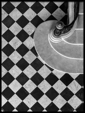 Buy this art print titled Chessboard Staircase by the artist Jean-Louis VIRETTI