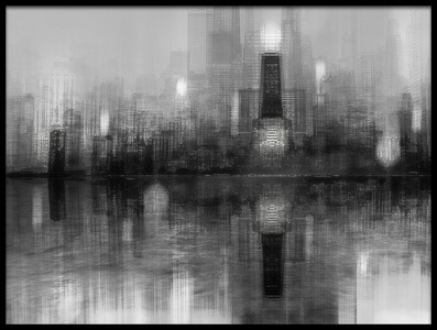 Art print titled Chicago Skyline by the artist Carmine Chiriacò