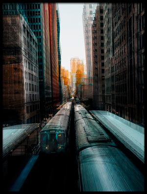Art print titled Chicago's Station by the artist Carmine Chiriacò