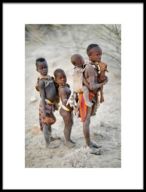 Art print titled Children of the Omo by the artist Trevor Cole
