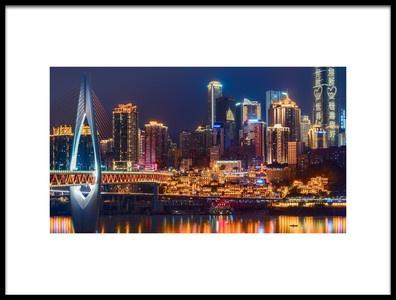 Buy this art print titled Chongqing Hongya Cave by the artist Robot boy zxz