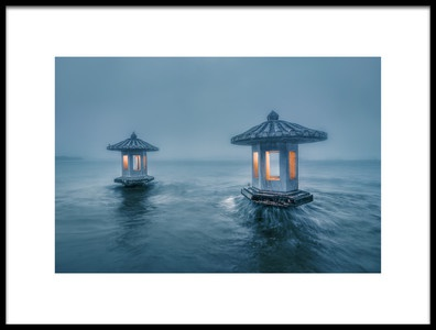 Art print titled ChuiGuang Pavilion by the artist liwulei