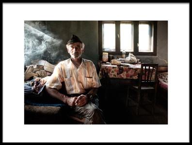 Art print titled Cigarette Break by the artist Andrei Nicolas - The Traveler