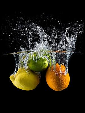 Buy this art print titled Citrus Splash by the artist Mogyorosi Stefan