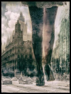 Art print titled City by the artist Zsóka Lorincz