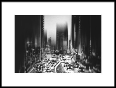 Art print titled City, Evening by the artist Teruhiko Tsuchida