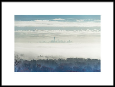 Art print titled City In the Mist by the artist Tony Yu