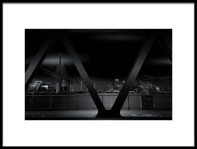 Art print titled Cityscape by the artist Matthias Hefner