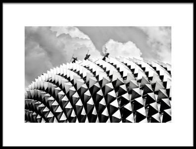 Art print titled Cleaning Among Triangles by the artist Ben Tam