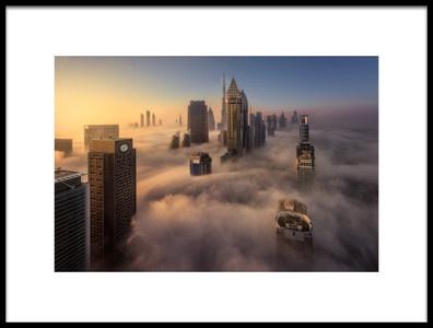 Art print titled Cloud City by the artist Javier de la Torre