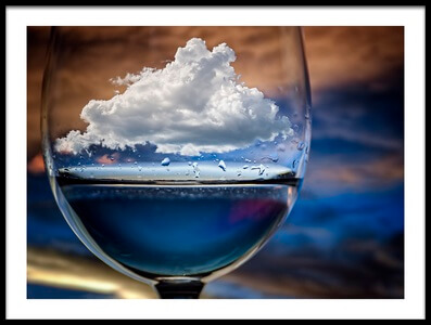 Art print titled Cloud In a Glass by the artist Chechi Peinado
