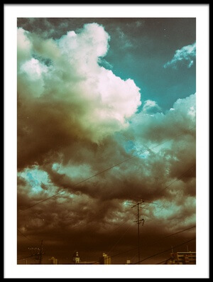 Art print titled Clouds of the Rainy Season by the artist Ademilo Aje Mo