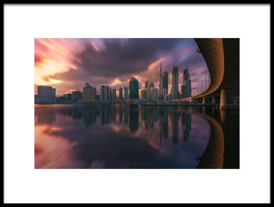 Art print titled Clouds Over Dubai by the artist Javier de la Torre