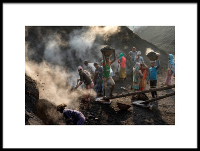 Art print titled Coal Mine Scene by the artist Adam Wong