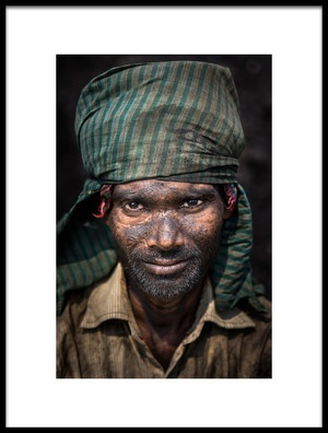 Buy this art print titled Coal Worker by the artist Richard Huang
