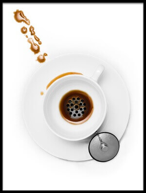Buy this art print titled Coffee Drain by the artist Dennis Larsen