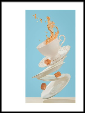 Art print titled Coffee for a Stage Magician by the artist Dina Belenko