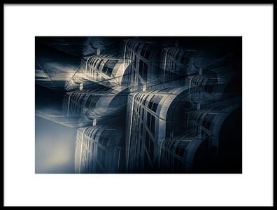 Art print titled Cold Architecture by the artist Stefan Kierek