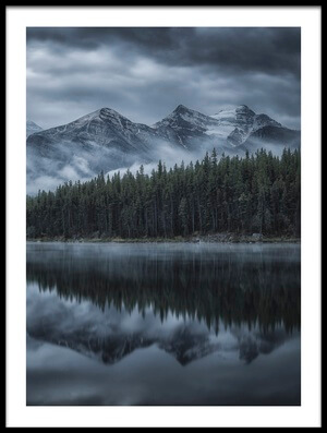 Buy this art print titled Cold Mountains by the artist Michael Zheng