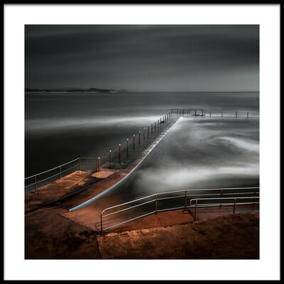 Buy this art print titled Collaroy Ocean Pool by the artist Graeme