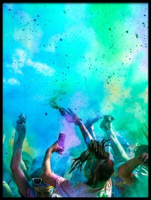 Buy this art print titled Color Run by the artist Eunice kim