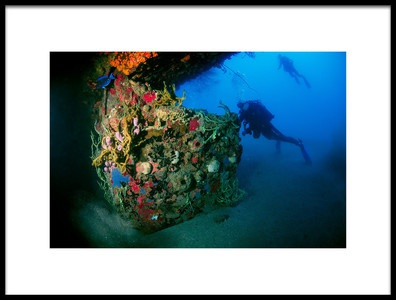 Art print titled Color Wreck by the artist Romano Molinari
